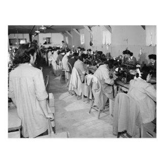 Sewing Machine Girls 1943 Postcard