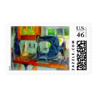 Sewing Machine in Harness Room Postage Stamps