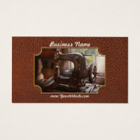 Sewing Machine - Leather - Saddle Sewer Business Card