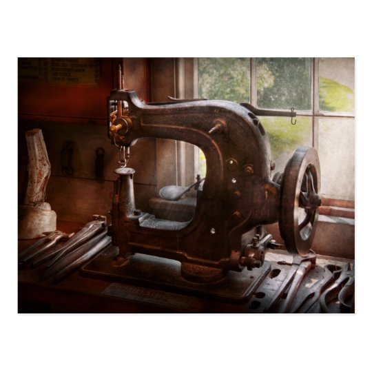 Sewing Machine - Leather - Saddle Sewer Postcard