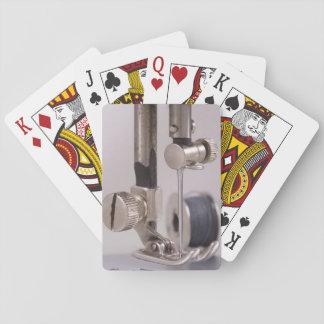 Sewing Machine Needle Closeup Poker Deck
