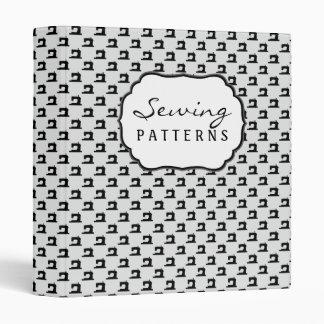 Sewing Machine Pattern w/ text 3 Ring Binder
