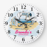Sewing Machine Personalizable Wall Clock at Zazzle