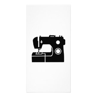 Sewing machine photo card