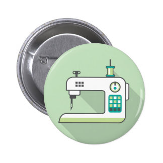 Sewing Machine Pinback Button