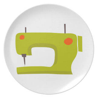SEWING MACHINE PARTY PLATE