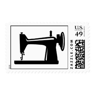 Sewing machine postage stamps