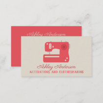 Sewing Machine Seamstress Tailor Business Card