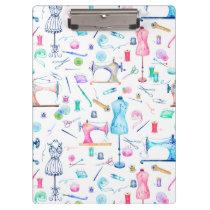 Sewing Machine Seamstress Watercolor Clipboard