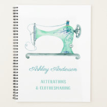 Sewing Machine Seamstress Watercolor Planner