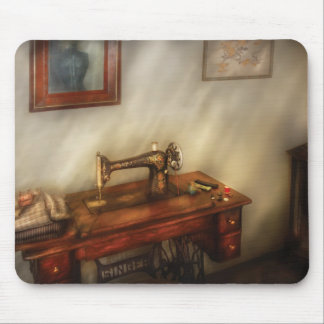 Sewing Machine - Sewing in a cozy room Mouse Pad