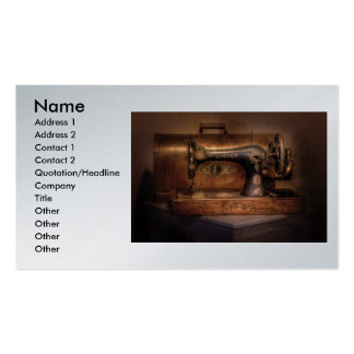 Sewing Machine  - Singer , Name, Address 1, Add... Double-Sided Standard Business Cards (Pack Of 100)