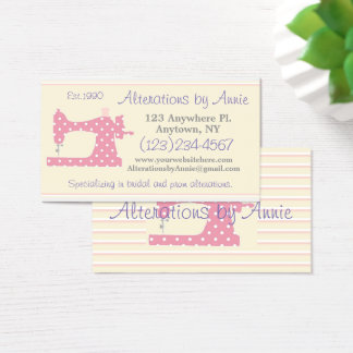 Sewing Machine Tailor Seamstress Business Card