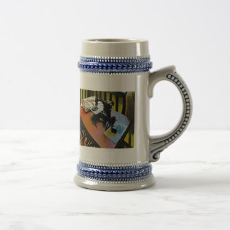 Sewing Machine with Cloth Beer Stein