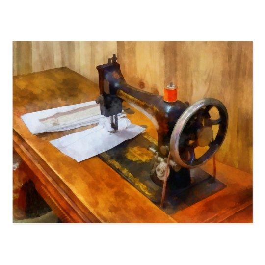 Sewing Machine With Orange Thread Postcard