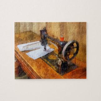 Sewing Machine With Orange Thread Jigsaw Puzzles