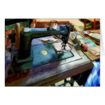 Sewing Machine With Sissors Cards