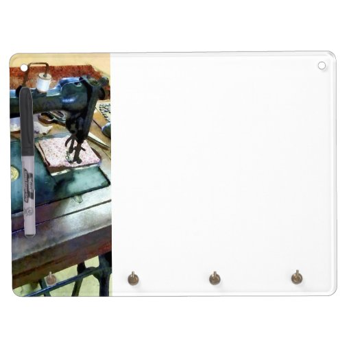 Sewing Machine With Sissors Dry-Erase Boards