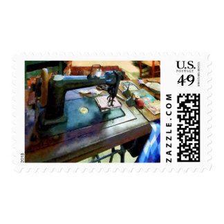 Sewing Machine With Sissors Postage