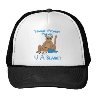 Sewing Monkey Makes U a Blanket Hat