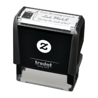 Sewing Needle & Thread Personalized Self-inking Stamp
