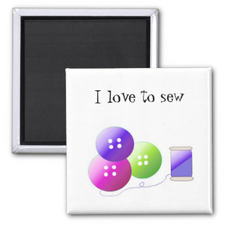 Sewing Notions 2 Inch Square Magnet