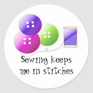 Sewing Notions Classic Round Sticker