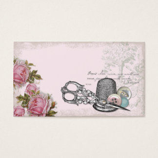 Sewing Notions PINK Business Card