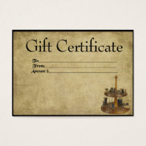 Sewing Notions- Prim Gift Certificate Cards