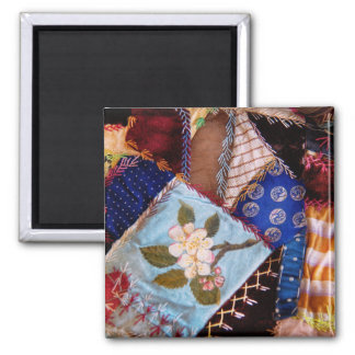Sewing - Patchwork - Grandma's quilt 2 Inch Square Magnet