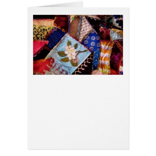 Sewing - Patchwork - Grandma's quilt Greeting Card
