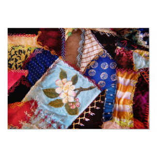 "Sewing - Patchwork - Grandma's quilt 5"" X 7"" Invitation Card"