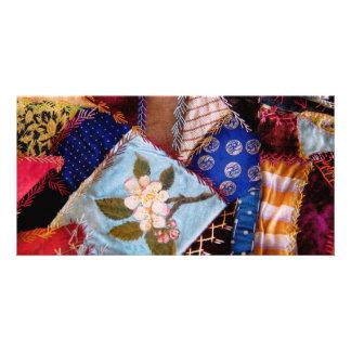 Sewing - Patchwork - Grandma's quilt Custom Photo Card