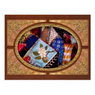 Sewing - Patchwork - Grandma's quilt Postcard