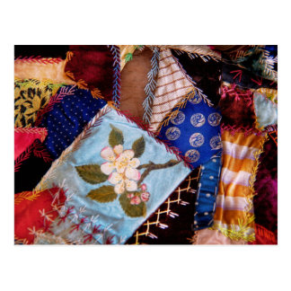 Sewing - Patchwork - Grandma's quilt Postcard