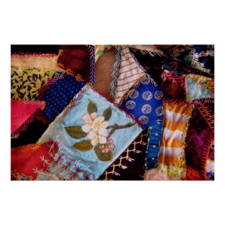 Sewing - Patchwork - Grandma's quilt Posters