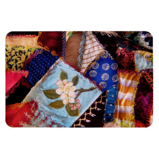 Sewing - Patchwork - Grandma's quilt Rectangular Magnet