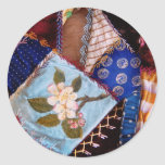 Sewing - Patchwork - Grandma's quilt Classic Round Sticker