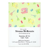 Sewing pattern invitation