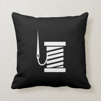 Sewing Pictogram Throw Pillow