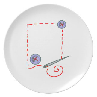 Sewing Party Plate