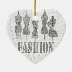 Sewing Professional Vintage Tailor Dress Stylist Ceramic Ornament at Zazzle