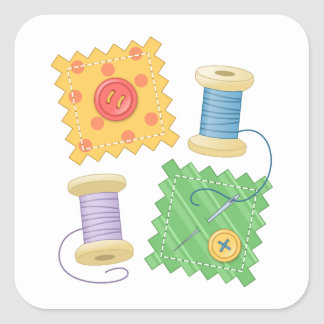 Sewing Quilting Craft Hobby Square Sticker