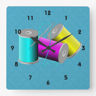 Sewing/Quilting Design Wall Clock
