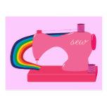 Sewing Rainbows Post Card