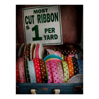 Sewing - Ribbon by the yard Poster