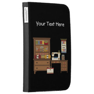 Sewing Room 1 customizable Kindle 3 Cases