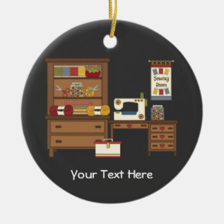 Sewing Room 1 (customizable) Ceramic Ornament