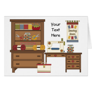 Sewing Room 1 (Personalized) Card