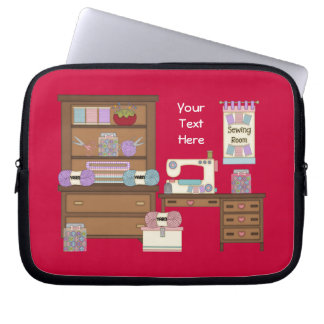 Sewing Room 2 (personalized) Computer Sleeve